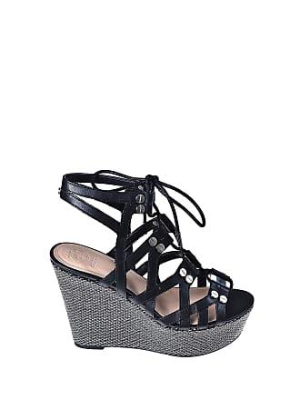 79399797ea3 Guess FL6GRY LEA04 Wedge Sandals Women Black 38