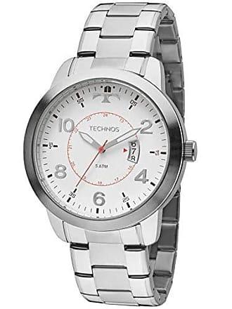 Technos Relógio Masculino Technos Analógico 2115Ktm/1B Prata
