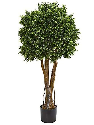 Nearly Natural 9150 46 Boxwood Artificial Topiary UV Resistant (Indoor/Outdoor) Silk Trees, Green