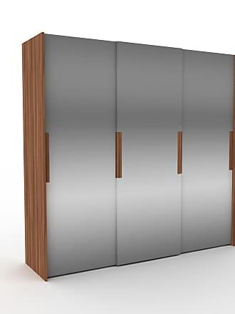 MYCS Dressing - Miroir, design, armoire penderie pour chambre ou entrée, haut de gamme, avec portes coulissantes - 244 x 233 x 65 cm, modulable