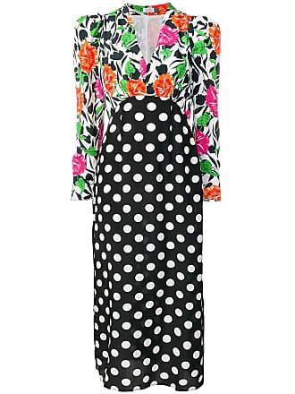 Rixo Vestido longo com estampa floral - Preto