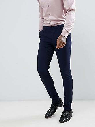 de69b6d23f94 Asos super skinny tuxedo suit pants in navy - Navy