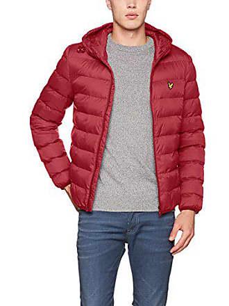 5a9a5988f2deac Lyle & Scott Herren Lightweight Puffer Jacke, Rot (Pomegranate A08), X-