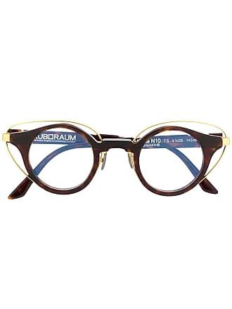 Kuboraum round frame glasses - Marrom