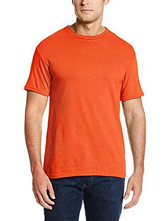 Soffe Mens Pro Weight Short Sleeve Tee Orange Large