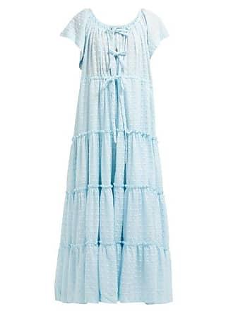 Innika Choo Alotta Güd Tiered Maxi Dress - Womens - Light Blue