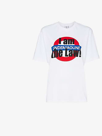 VETEMENTS london underground print cotton t-shirt