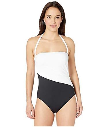 2f7144d29f Ralph Lauren Bel Aire Bandeau One-Piece (Black) Womens Swimsuits One Piece