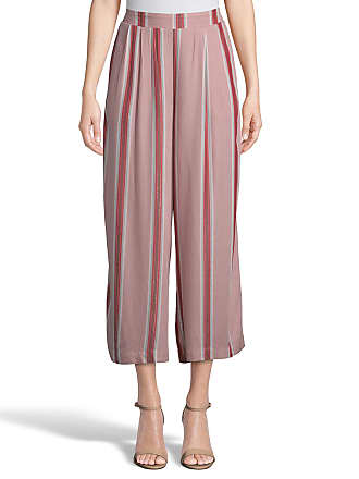 5twelve Striped Wide-Leg Pull-On Cropped Pants