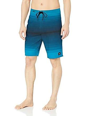 O'Neill Mens 21 Inch Outseam Stretch Swim Boardshort, Blue/Cooper 34