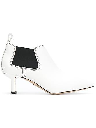 PAUL ANDREW Ankle boot Ana de couro - Branco
