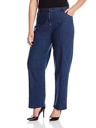 Ruby Rd. Womens Plus-Size Classic 5-Pocket Fly Front Denim Jean, Indigo, 18W