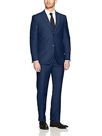 Stacy Adams Mens Bud Vested Slim Fit Suit, Navy, 38 Long