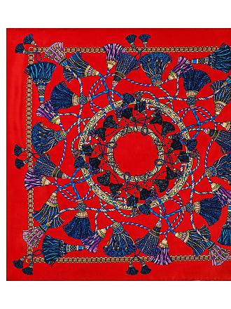 Roeckl Oriental Tassels 53x53 53x53 - multi red - 53x53