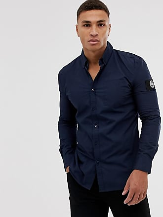 Hype insignia long sleeve shirt-Navy