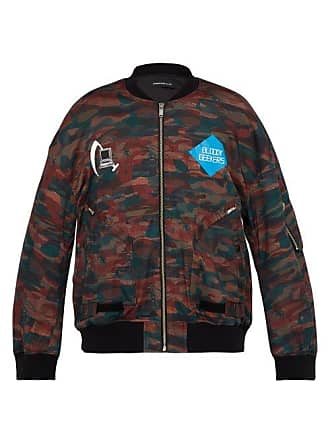 Undercover Bloody Geekers Camouflage Print Bomber Jacket - Mens - Red