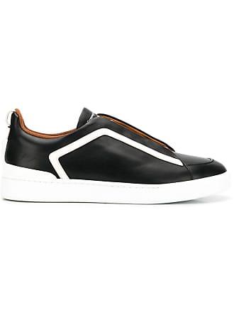Ermenegildo Zegna contrast stripe sneakers - Black