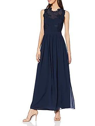 bd66f59ee8c965 Vila Vigeorgious S/L Maxi Dress Vestito Elegante, Blu Navy Blazer, ((