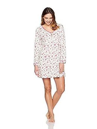 1427d83c5832 Karen Neuburger Womens Long Sleeve Pullover Nightshirt, Ditsy Ivory,  Medium. USD $47.50