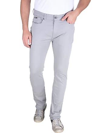 Colombo Calça Jeans Masculina Cinza Lisa 49782 Colombo