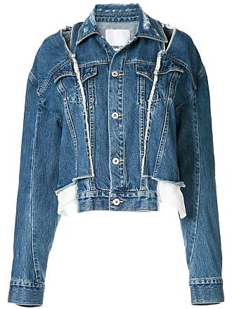 Ground-Zero Jaqueta jeans com recortes - Azul
