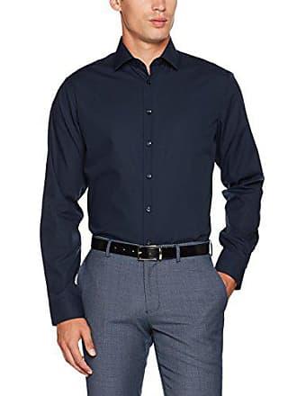 a3e59776cdd8 Seidensticker Tailored Bügelfrei Camicia Business, Blu (Dunkelblau 19), 40  cm Uomo
