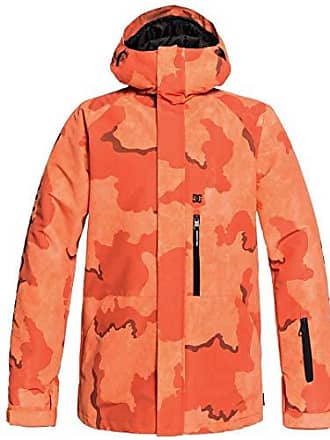 DC Mens Ripley Snow Jacket, red/Orange DCU camo Melon, XL