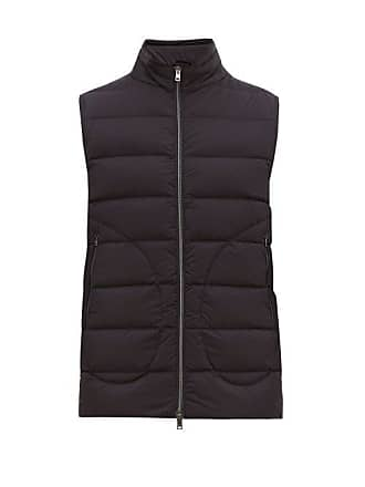 Herno Quilted Down Gilet - Mens - Navy