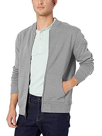 Goodthreads Mens Fleece Bomber, Heather Grey XX-Large Tall