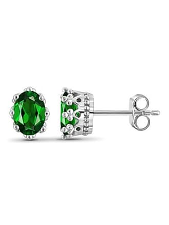 JewelersClub JewelersClub 1.66 Carat T.G.W. Chrome Diopside Gemstone Earrings