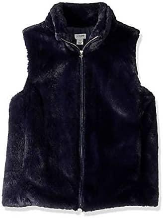 J.crew Womens Faux Fur Vest, Navy, XL