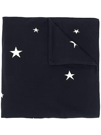 Chinti and Parker Cachecol de cashmere com estrelas - Azul