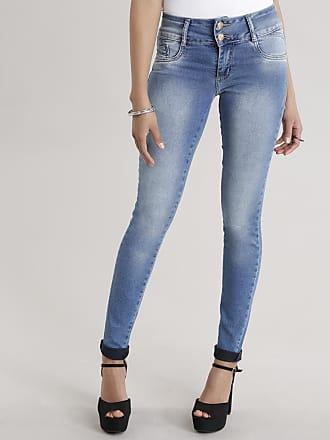 Sawary Calça Jeans Super Skinny Sawary Azul Claro