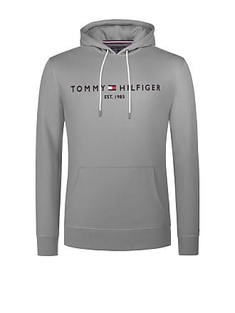 Tommy Hilfiger Übergröße   Tommy Hilfiger, Hoody mit Logo-Stickerei in  Hellgrau für Herren 10fe17422e