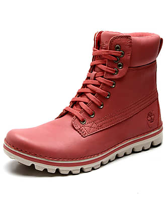 Timberland Bota Coturno Couro Timberland Brookton 6in Classic Rosa