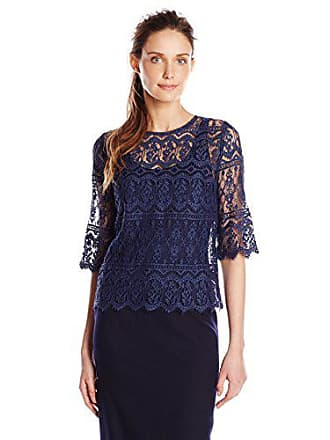 Only Hearts Womens Victorian Lace T-Shirt W Liner, Midnight, Medium