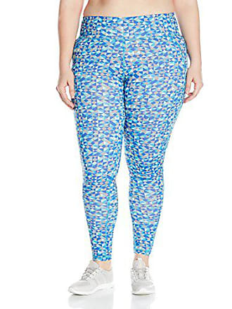 Fruit Of The Loom Fit for Me by Fruit of the Loom Womens Plus Size Legging, Teal Lagoon/Triangle Geo Print, 2X