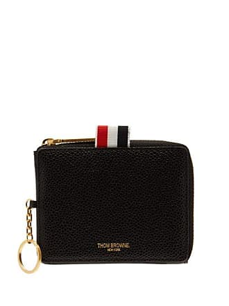 Thom Browne Pebbled Leather Coin Pouch - Mens - Black