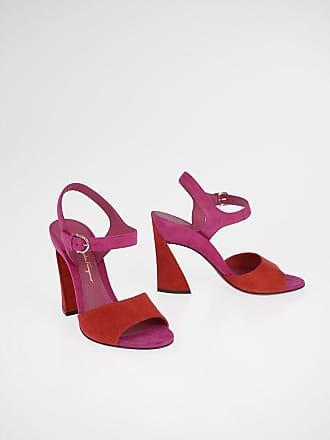 Salvatore Ferragamo 10,5 cm Suede Leather AEDE Sandals size 6,5