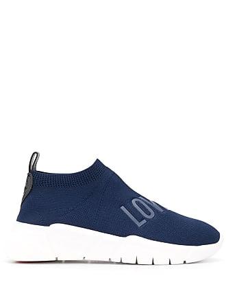 Love Moschino Tênis meia slip-on - Azul