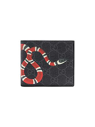7c1e78d0569b Gucci Kingsnake print GG Supreme wallet - Black