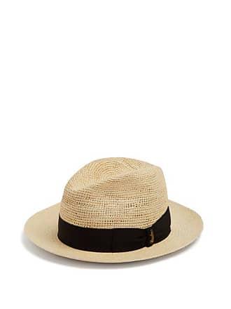 Borsalino Panama Woven And Crochet Straw Hat - Mens - Black Multi fccd72d0b505