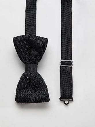 Twisted Tailor knitted bow tie in black