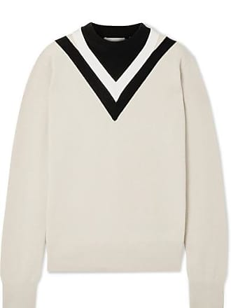 Helmut Lang Color-block Wool-blend Sweater - White
