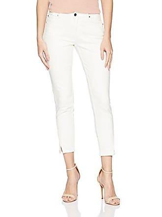 3154d1a0e Evidnt Womens Tate Skinny MID Rise Cropped Denim Jean, White, 24