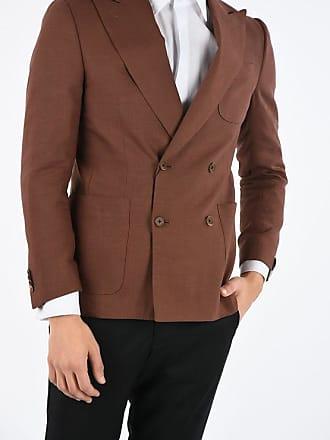 Corneliani giacca doppiopetto ACADEMY SOFT in lino e lana vergine taglia 50