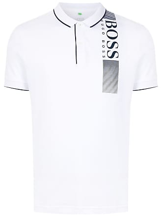 HUGO BOSS Camisa polo com estampa - Branco