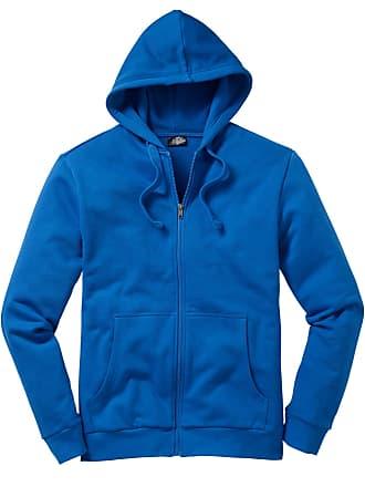 f0de27fc2402 Bonprix Herr Munkjacka med luva i blå lång ärm - bpc collection