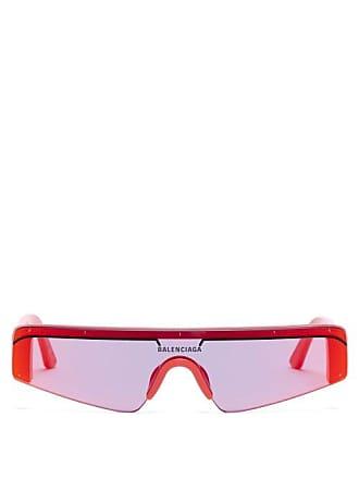 75cd72b8be Balenciaga Ski Reflective Rectangular Frame Sunglasses - Mens - Red