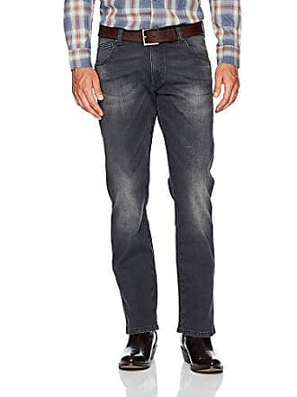 Wrangler Mens Retro Slim Fit Straight Leg Jean, Grey Denim 35x34